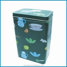 Custom made tea tin box/tin container