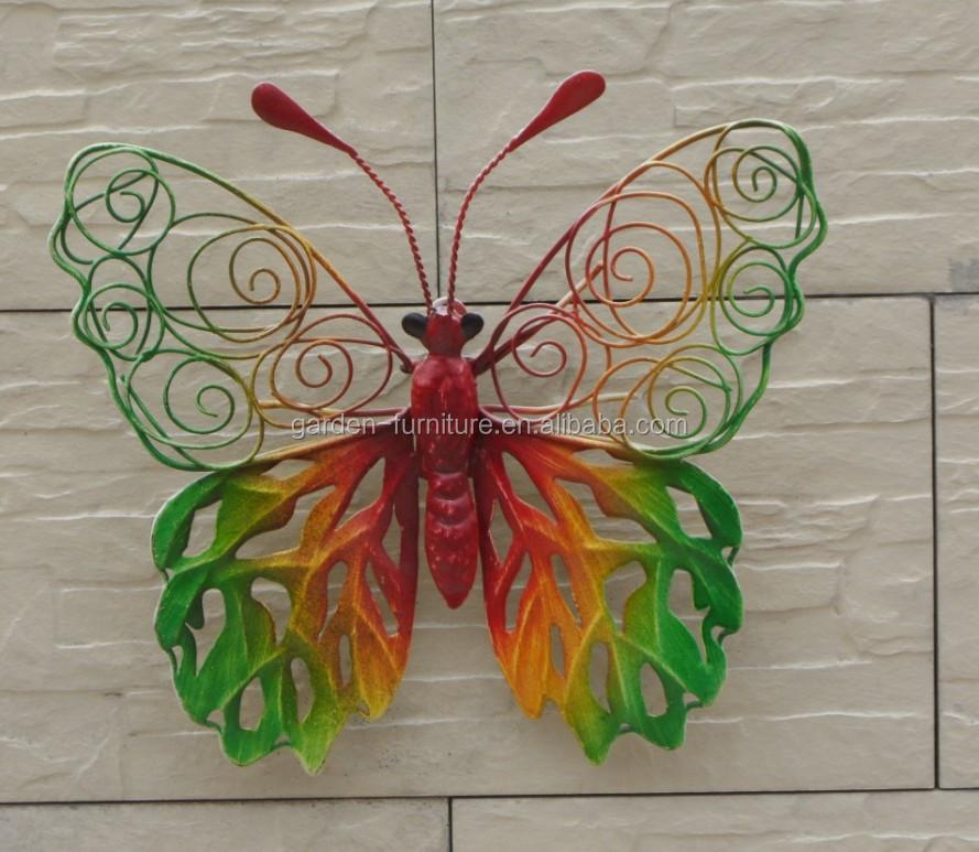 Jardin ext rieur belle m tal papillon d coration murale en for Deco fer forge jardin exterieur