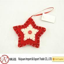 2014 new deisgn!!!Handmade felt star hanging christmas ornament for promotion