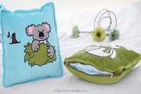 travel set decorative blanket with pillow and blanket cushion cover