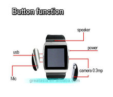 Bottom price top sell single sim card slot 2g watch for android and ios phone