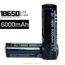 Accept paypal ! Made in China 18650 Battery, 18650 3.7V battery 6000mah multicolor rechargeable battery