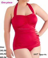Fashion sexy one piece swimsuit,plus size swimwear,lady triangle beachwear 3XL to 5XL