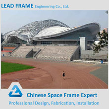 Sports hall building steel space frame roof system