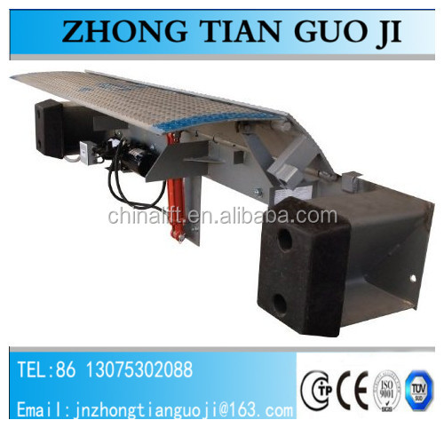 High quality steel edge dock leveler view hydraulic