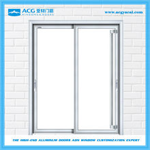 Easy cleaning frosted glass hermetic toilet slide door