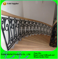 Interior Wrought Iron Curved Stair Railings Design