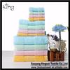 wholesale 100% bamboo fiber jacquard brown color towel set