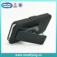 Hard PC mobile phone cover for iphone 4 with kickstand&belt clip