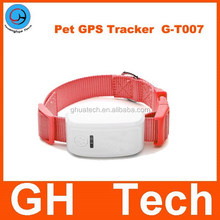 GH G-T007 Fashionable Mini Black/green/red/pink/blue Pet dog cat GPS Tracker For pet real time Position do not worry about pets