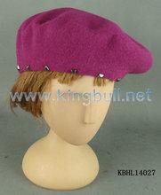 Boina de punto, sombrero hecho punto, boina de lana