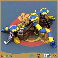 2015 outdoor Plastic children slide for Amusement Park