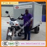 Trikmoto Brand Water-cooled Engine Cargo Tricycle With Cabin/ China Cargo Tricycle For Sale