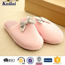new arrival soft sole pink slipper woman shoe in jersey