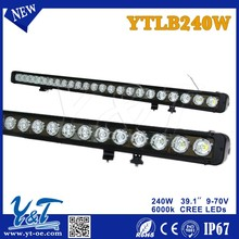 Y&THigh quality 240W heavy duty equipment single row LED automotiveLights bar