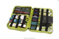 BUBM Portable Hard Protective Mobile Power Bank case/bag earphone carrying green bag,EVA mp3/mp4 player case