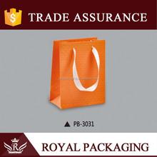 Customized Orange Drawstring Gift Bag for Craft