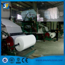 Single cylinder and single line writing paper machine with good quality
