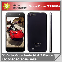 """ZOPO ZP980 2GB&32GB ROM Android Smart Mobile Phone MTK6589T Quad Core 5.0"""" FHD 3G Smartphone"""