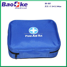 bule first aid kit with normal contents/belt medical bag with PVC pockets/travel /out door mini kit