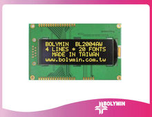 Parallel, IIC/I2C or SPI and COG with SMT type Character 20x4 OLED display
