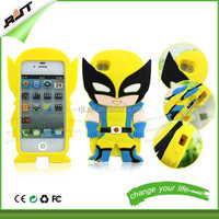 Newest cool 3D cartoon batman silicone case for samsung s3 s4 s5 factory price silicon case for samsung s5
