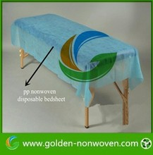 beauty industry use disposable non woven salon cover/bedsheet