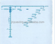 construction type Hot sale and high quality QTZ125(PT6015) price of tower crane