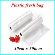 30cm*500cm 1 rolls of vacuum sealing bag plastic bag products keep fresh tape for small commodity packaging
