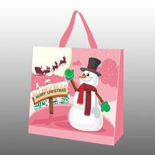 recycle christmas bag/non woven carry bag