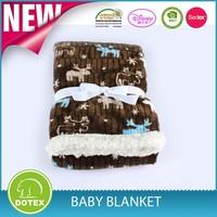 BSCI & SEDEX Certificated Factory wool sherpa fleece blanket throw blanket