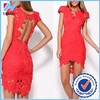 Dongguan Yihao sexy night dress picture red sex prom dress in lace