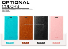 Factory in Shenzhen 4 Colors Original MOFI Leather mobile phone Case Flip cover for nokia x2-01
