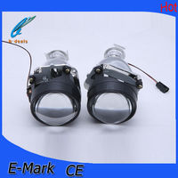 Free shipping new design 2.5 inch bi-xenon projector lens with led light guide angel eyes for h1 h4 h7 9005 9006