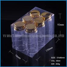 30g glass wedding candy bottle 6pcs pvc folding box