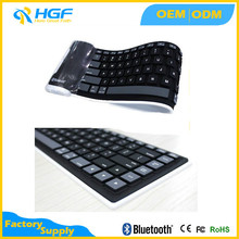 Flexible Folding Silicone Rubber Wireless bluetooth Keyboard for PC Laptop iPad