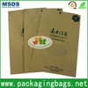 high quality laminated brown kraft food packaging paper bags with window