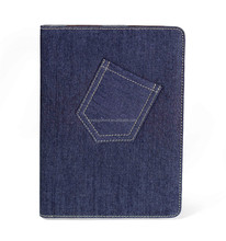 New Product Denim Jean + PU case for ipad Air 2