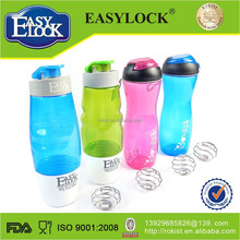 houseware clolorful easylock plastic sport bottle gym with sealed lid