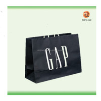 print white colored paper bag/high quality recycled brown paper bag:cheaper luxury paper shopping bag