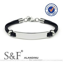 2014 Leather Bracelet , 9268 Fashion Stainless Steel Bracelet