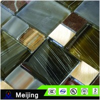 Wholesale new style decoration glass mosaic tile for bar counter design with alibaba China for building materials
