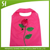 eco-friendly polyester bag foldable shopping bag with pouch