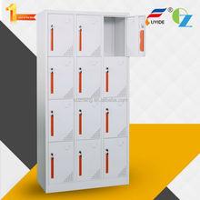 12 door steel locker for changing room ,storage cabinet locker for hosptial ,steel wardrobe locker for school