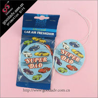 2015 Custom car air freshener/paper air refresher for promotional gifts
