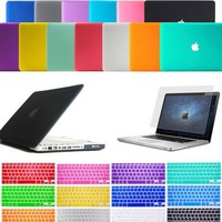 "Laptop Matt Rubberized Hard Case Keyboard Skin Cover For MacBook Air 11"" / 13"""