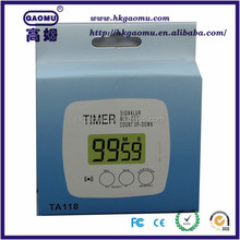 High precision Digital LCD wall clock thermometer thermo hygrometer digital