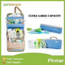 pinter manufactory 2015 logo customized nylon foldable toiletry bag,travel toiletry bag
