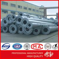 10KV Galvanized Power Transmission Line electrical Steel Tubular Pole