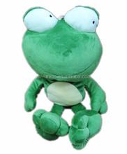 bulk wholesale green frog soft plush , plush green soft animals toy